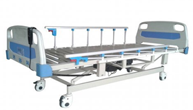 เตียงผู้ป่วยไฟฟ้าแบบสไลด์ ระบบ ABS ด้านหัวและท้ายพื้นเตียงเป็นเหล็กแนวขวางแข็งแรงทนทาน